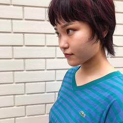 インナーカラー ピンクパープル ピンクアッシュ ストリート ヘアスタイルや髪型の写真・画像