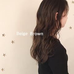 ナチュラル ブラウンベージュ 大人かわいい ベージュ ヘアスタイルや髪型の写真・画像