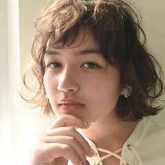 パーマ ボブ 前髪あり 外国人風 ヘアスタイルや髪型の写真・画像