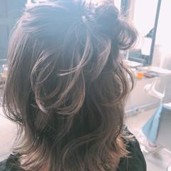 波ウェーブ 簡単ヘアアレンジ ゆるふわ ショート ヘアスタイルや髪型の写真・画像