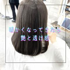 ブリーチなし 縮毛矯正 髪質改善 セミロング ヘアスタイルや髪型の写真・画像