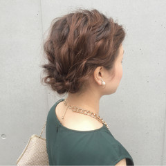 パーティ ヘアアレンジ ボブ 波ウェーブ ヘアスタイルや髪型の写真・画像