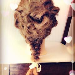 フェミニン ゆるふわ 花 ミディアム ヘアスタイルや髪型の写真・画像