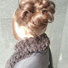 簡単ヘアアレンジ ミディアム ヘアアレンジ ゆるふわ ヘアスタイルや髪型の写真・画像