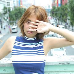 ハイトーン 色気 イルミナカラー フェミニン ヘアスタイルや髪型の写真・画像