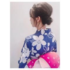ナチュラル お祭り 花火大会 デート ヘアスタイルや髪型の写真・画像