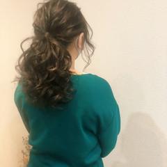 ポニーテール フェミニン ローポニー ローポニーテール ヘアスタイルや髪型の写真・画像