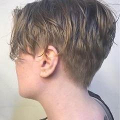 アッシュ 前髪あり フリンジバング 黒髪 ヘアスタイルや髪型の写真・画像