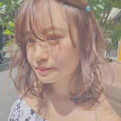 ミディアム 夏 透明感 デート ヘアスタイルや髪型の写真・画像