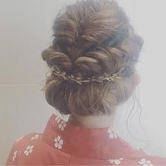 結婚式 夏 ボブ 花火大会 ヘアスタイルや髪型の写真・画像