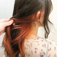モード ロング ダブルカラー インナーカラー ヘアスタイルや髪型の写真・画像