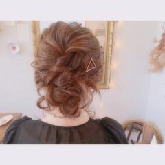 結婚式 ブライダル ヘアアレンジ ミディアム ヘアスタイルや髪型の写真・画像