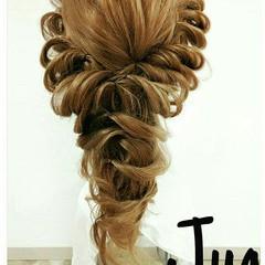 ヘアアレンジ ロング ガーリー 大人かわいい ヘアスタイルや髪型の写真・画像