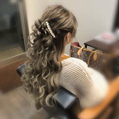 結婚式 ヘアアレンジ ヘアセット ロング ヘアスタイルや髪型の写真・画像