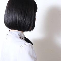 黒髪 暗髪 モード 切りっぱなし ヘアスタイルや髪型の写真・画像