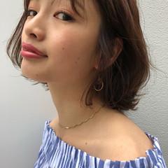 ミディアム 涼しげ オフィス 大人女子 ヘアスタイルや髪型の写真・画像