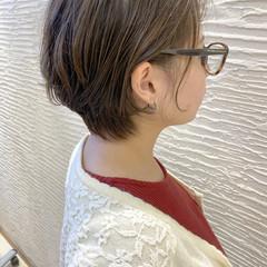 ゆるふわパーマ 大人ショート ナチュラル ボブ ヘアスタイルや髪型の写真・画像