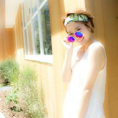 大人かわいい ショート ヘアアクセ ヘアアレンジ ヘアスタイルや髪型の写真・画像