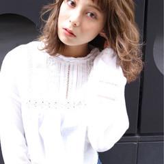 前髪あり 外国人風 グラデーションカラー ハイライト ヘアスタイルや髪型の写真・画像