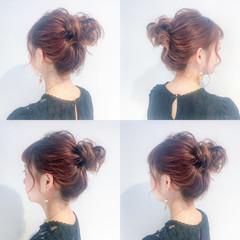 ヘアアレンジ 簡単ヘアアレンジ デート お団子 ヘアスタイルや髪型の写真・画像