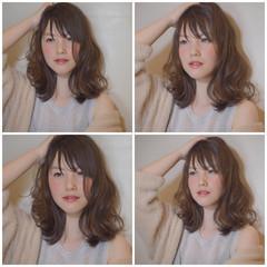 アッシュ ガーリー レイヤーカット パーマ ヘアスタイルや髪型の写真・画像
