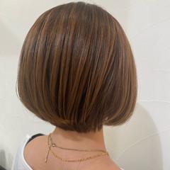 ナチュラル 3Dハイライト ショートボブ ショートヘア ヘアスタイルや髪型の写真・画像