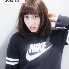 ミディアム 暗髪 アップスタイル ストリート ヘアスタイルや髪型の写真・画像