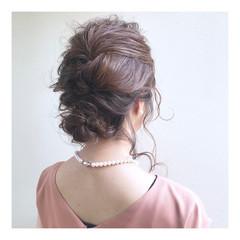 フェミニン ヘアアレンジ パーティー ロング ヘアスタイルや髪型の写真・画像
