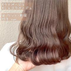 ナチュラルブラウンカラー グレージュ ブラウンベージュ ナチュラル ヘアスタイルや髪型の写真・画像