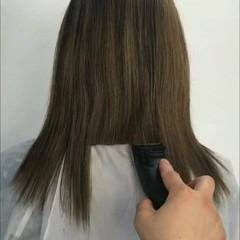 色気 切りっぱなし 外ハネ モード ヘアスタイルや髪型の写真・画像