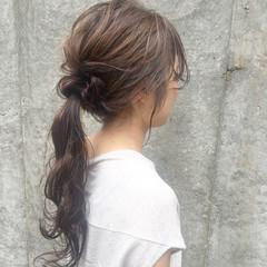 ロング 大人女子 アッシュ 暗髪 ヘアスタイルや髪型の写真・画像
