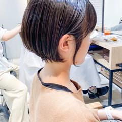 鎖骨ミディアム レイヤーヘアー ゆるふわ ミニボブ ヘアスタイルや髪型の写真・画像