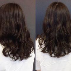 ゆるふわ デジタルパーマ ナチュラル セミロング ヘアスタイルや髪型の写真・画像