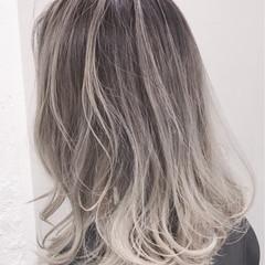ストリート グラデーションカラー ブリーチ ハイライト ヘアスタイルや髪型の写真・画像
