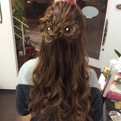 編み込み 編み込みヘア ナチュラル ロング ヘアスタイルや髪型の写真・画像