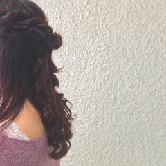 ロング 愛され フェミニン ヘアアレンジ ヘアスタイルや髪型の写真・画像