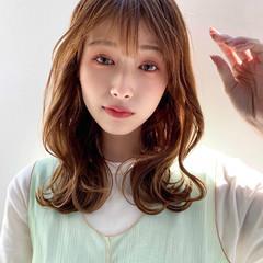韓国ヘア モテ髪 ミディアム 大人女子 ヘアスタイルや髪型の写真・画像