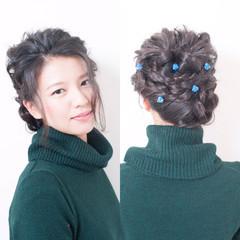 大人女子 ロング ヘアアレンジ 結婚式 ヘアスタイルや髪型の写真・画像