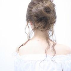 ヘアアレンジ ショート 大人女子 ガーリー ヘアスタイルや髪型の写真・画像