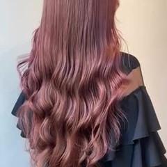 ナチュラル ヨシンモリ ピンクアッシュ ピンクベージュ ヘアスタイルや髪型の写真・画像