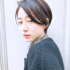 ナチュラル ショート 黒髪 デート ヘアスタイルや髪型の写真・画像