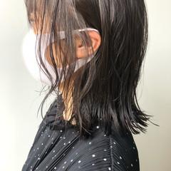 ナチュラル ミディアムヘアー ミディアム デジタルパーマ ヘアスタイルや髪型の写真・画像