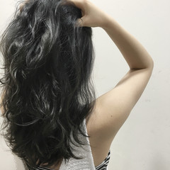 アッシュ 黒髪 ナチュラル かっこいい ヘアスタイルや髪型の写真・画像