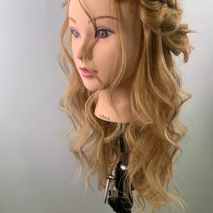 ヘアアレンジ ロング ヘアセット 編みおろしヘア ヘアスタイルや髪型の写真・画像