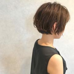 ゆるふわ ナチュラル ショート 色気 ヘアスタイルや髪型の写真・画像