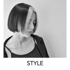 デザインカラー 原宿 ホワイトブリーチ ホワイトカラー ヘアスタイルや髪型の写真・画像
