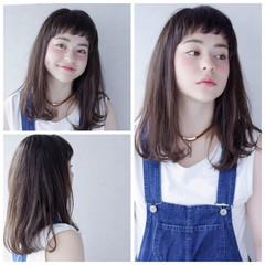 ピュア セミロング ガーリー 夏 ヘアスタイルや髪型の写真・画像