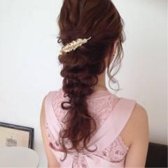 コンサバ 二次会 ポニーテール ヘアアレンジ ヘアスタイルや髪型の写真・画像