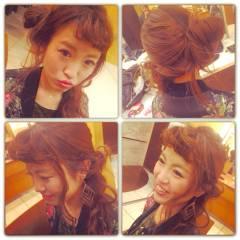 簡単ヘアアレンジ コンサバ モテ髪 ゆるふわ ヘアスタイルや髪型の写真・画像