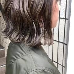 ミディアム ロブ 外国人風カラー ダブルカラー ヘアスタイルや髪型の写真・画像
